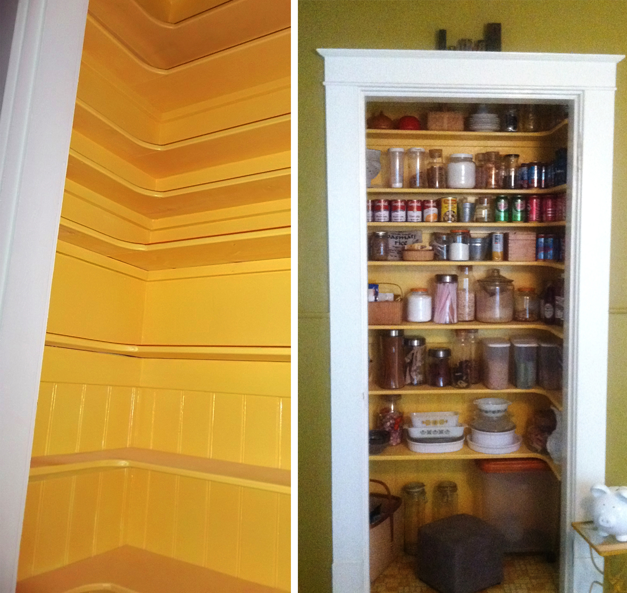 Creating a pantry out of a small closet for Small pantry closet ideas