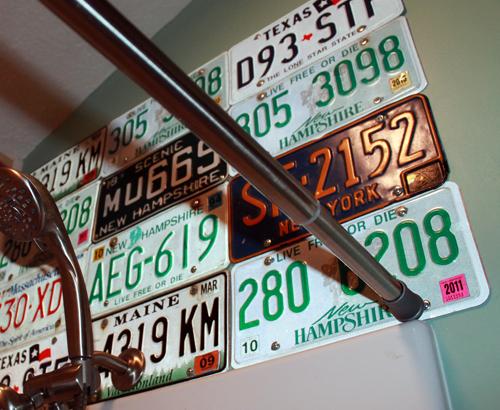 license-plate-backsplash