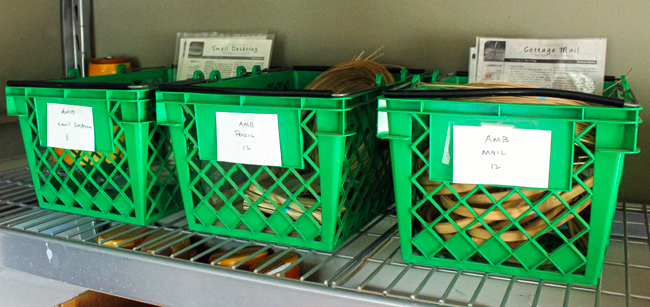 green-shopping-basket-organization