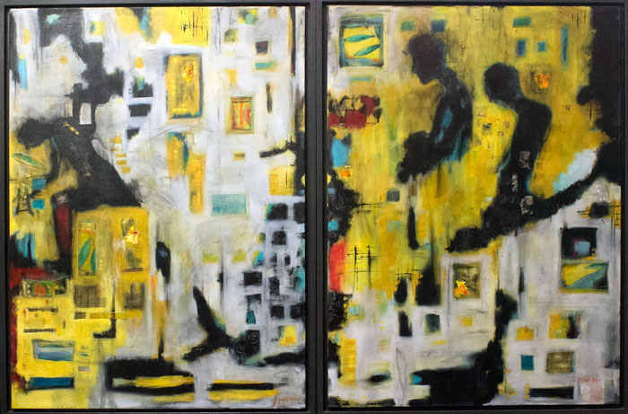 two-yellow-paintings-large-framed-together