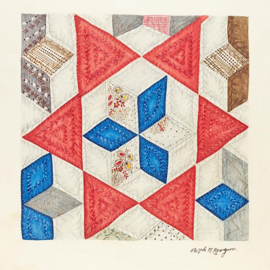 ArtWk-RalphMorgan-QuiltPattern-Watercolor-1935
