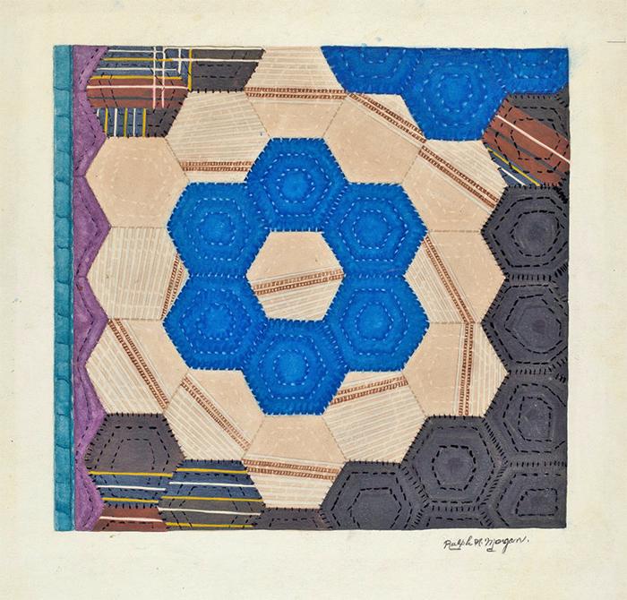 ArtWk-RalphMorgan-SilkQuilt-WatercolorGraphite1935