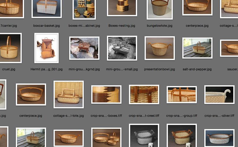 Knee deep in basket photos…
